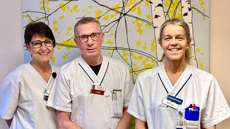 Tre personer jobbar på diabetesmottagningen på USÖ